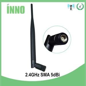 Image 4 - 2.4 GHz Antena wifi 5dBi złącze męskie SMA 2.4 ghz Antena wifi Antena 2.4G wodoodporna bezprzewodowy dostęp do internetu Antena dla bezprzewodowy router wifi