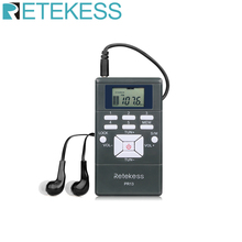 Retekess PR13 Portable Stereo FM Radio Pocket Radio Digital Clock Receiver for Large meeting Simultaneous Interpretation F9213