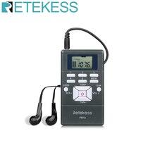 Retekess pr13 portátil estéreo fm rádio bolso receptor de relógio digital para grande reunião interpretação simultânea f9213