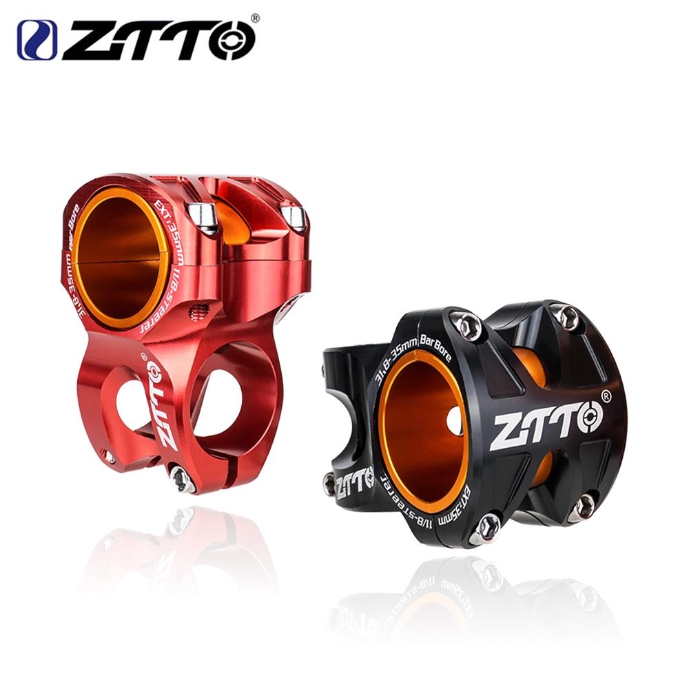 ZTTO MTB Высокопрочный легкий Стебель велосипеда CNC алюминиевый сплав 0 градусов повышение DH AM эндуро для 35 мм/31,8 мм руль велосипеда