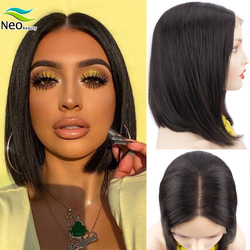 Short Straight Bob Wig Lace Front Human Hair Wigs for Black Women 4x4 Lace Closure Wig 8-16 Inch Brazilian Hair Wigs Free Ship