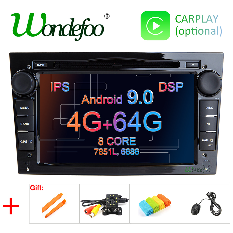 DSP Android 9 0 4G 2 din Car GPS For Opel Vauxhall Astra H G J