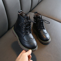 Children's Martin boots children's shoes autumn and winter new children's shoes Korean version of the British retro boy boots le|Boots| |  -