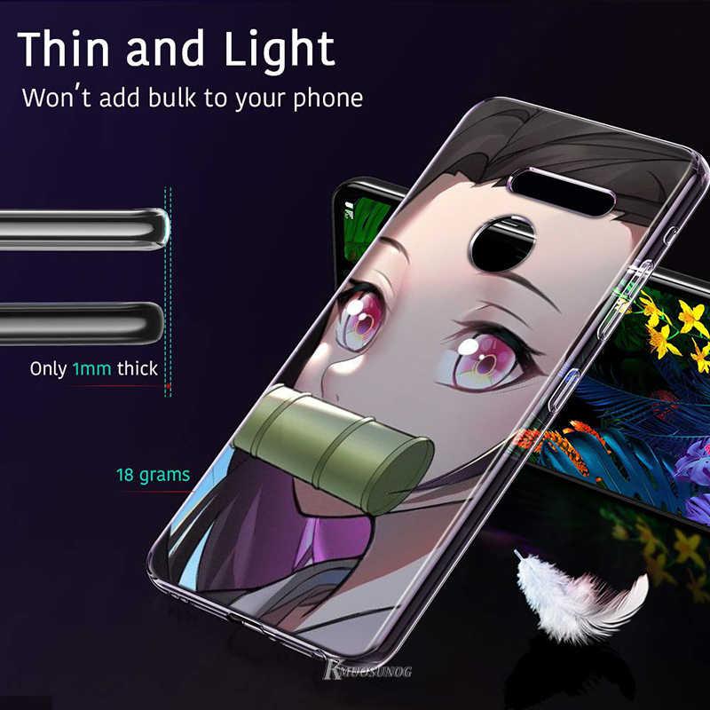 Kamado Nezuko Kimetsu No Yaiba Demone per LG W20 W10 V50S V50 V40 V30 K50S K40S K30 K20 Q60 Q8 q7 Q6 G8 G7 G6 Thinq Cassa Del Telefono