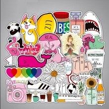 50 adet Çıkartmalar Su Geçirmez Hiçbir Çift Mix Karikatür Sticker Çocuk Yetişkin Dizüstü Bavul noel hediyesi PVC Moda Etiket