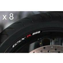8x Para Suzuki GSX-R 600 Listras Jante Decalques Adesivos Definir GSX-R K5 K6 K7 K8