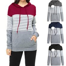 Maternity clothes Women Stripe Pregnant Nursing Baby Maternity Hooded Tops Blouse Outwear Clothes Hot sale L500924(China)