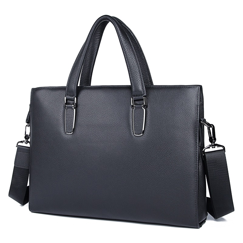 Genuine Leather Handbag Male Fashion Office Business Men Bags Laptop Bag Document Bags 7419A