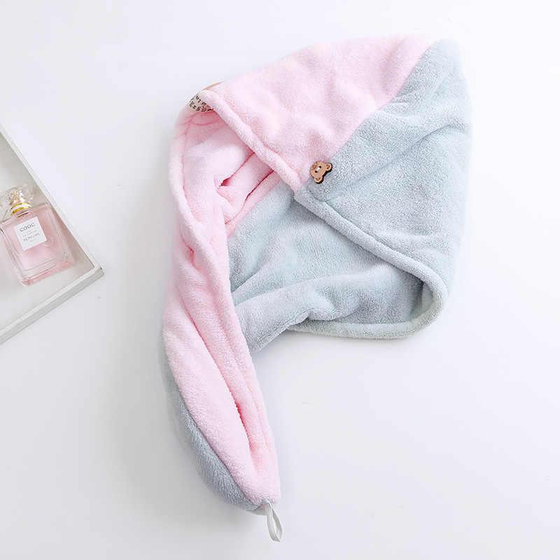 Chapeau en microfibre à séchage rapide   Serviette à séchage rapide, serviette enveloppée, serviette de salle de bain