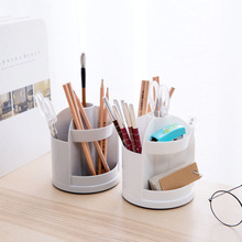 Multi-functional 360-Degree Spinning Holder  round Jewelry Storage Box Pp Plastic Cartridge Pen Holder Shelf New Arrival