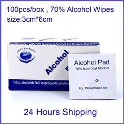 100 шт. спиртовые салфетки, 70% Ispropyl одноразовая дезинфекция Prep Swap Pad антисептик уход за кожей Чистка салфетки