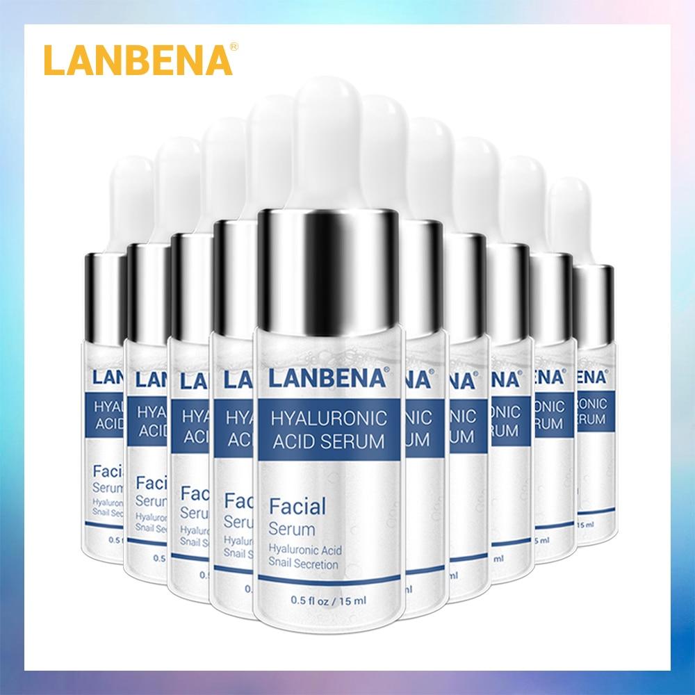 LANBENA Hyaluronic Acid Serum Snail Essence Face Cream Moisturizing Acne Treatment Repair Whitening Anti-Aning Winkles 10PCS