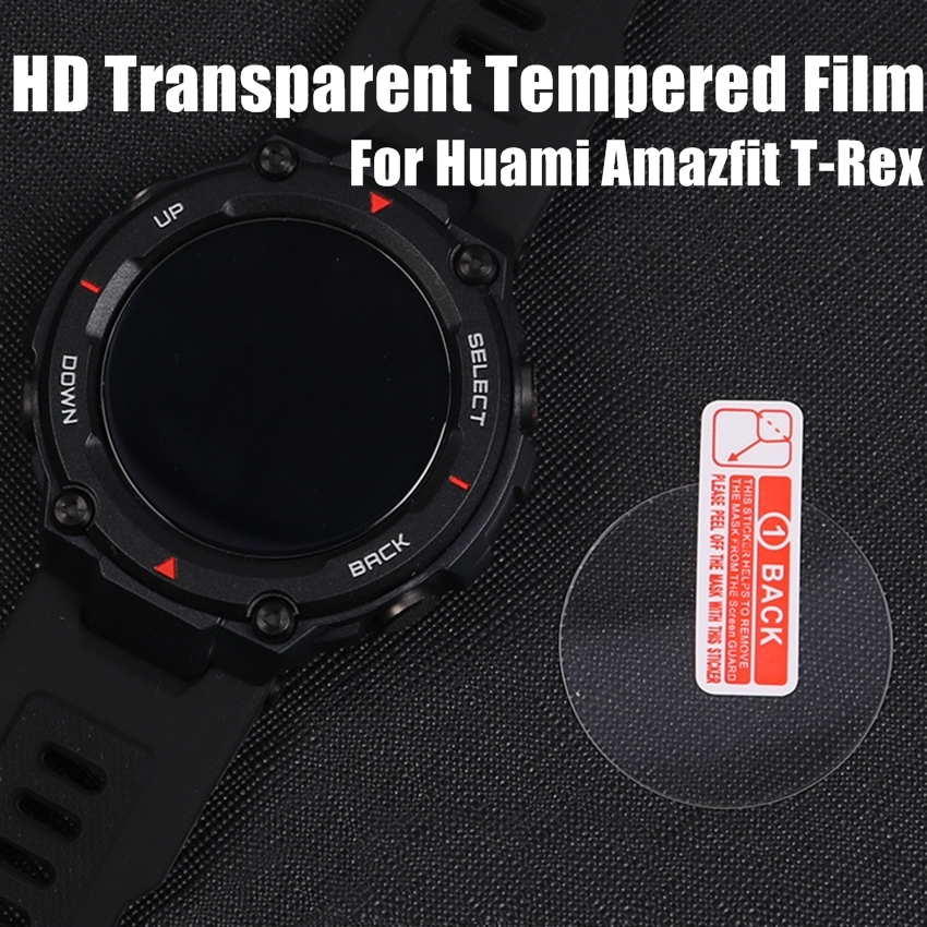 For Huami Amazfit T-Rex Tempered Glass Screen Protector For New 2020 Amazfit T-rex T Rex Smart Watch Protective Accessories