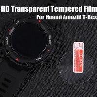 Huami ため amazfit t-rex 強化ガラススクリーンプロテクター 2020 amazfit t-rex t レックススマート保護アクセサリー