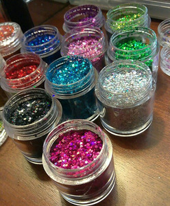 1 Bottle Laser Gold Silver Mix Size Nail Art Glitter Sequins DIY Sparkly Paillette Tips Charm Pigment Flakes Gel Nail Decor Y/8I(China)