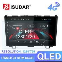 Isudar H53 4G Android Auto Multimedia 1 Din Auto Radio Für Honda/CRV/CR V 2006 2011 GPS 8 Core RAM 4GB ROM 64GB 1080P Kamera DVR