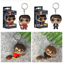 Pop 3D Harri Potter PVC Keychain Toy Dobby Hermione Granger Malfoy Ron Weasley Snape Action Figure Toys Party Cosplay Key Ring(China)