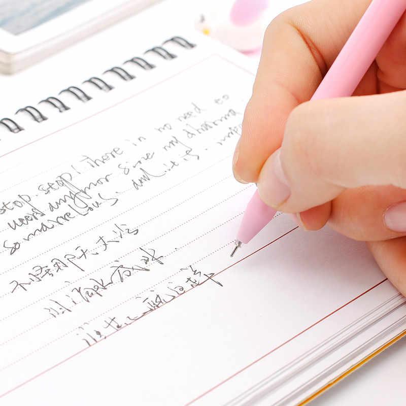 1pcs Cartoon Zwarte Flamingo Balpen Creatieve Balpen Kawaii Magische Pen Mode School Office Schrijven Levert