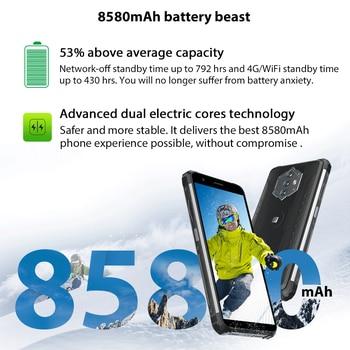 Blackview BV6600 8580mAh Battery Smartphone IP68 Waterproof 4GB+64GB Octa Core Mobile Phone 16MP Camera NFC Cellphones 2