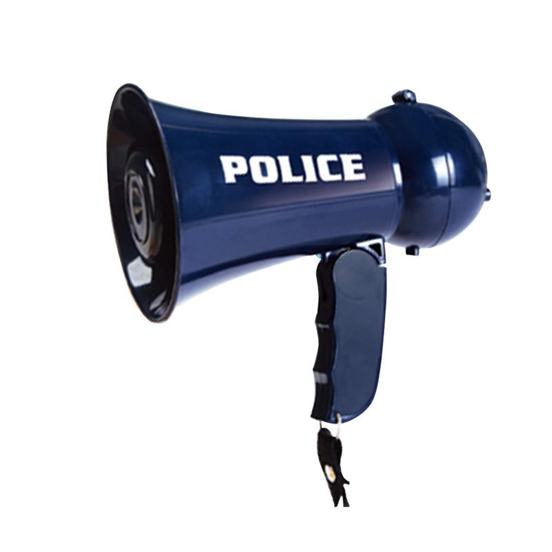 Police Megaphone Toy Funny Guide Loudspeaker Toy Role Cosplay Toy For Kid Child Boy (Sapphire Blue, No Batteries)