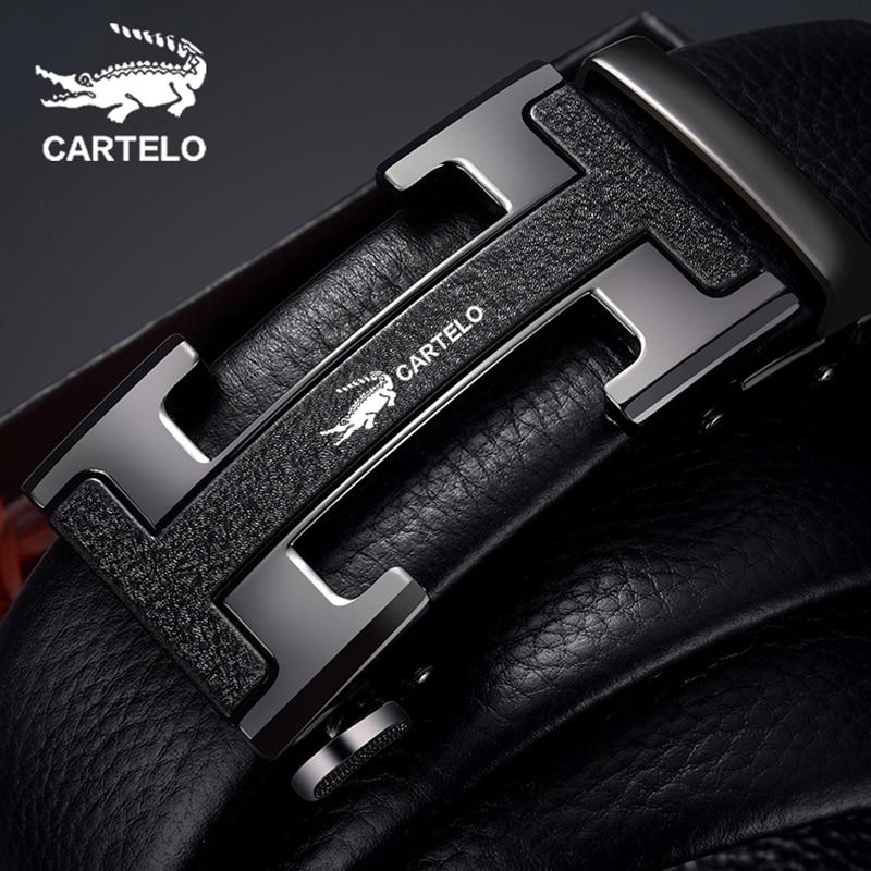 CARTELO брендовый ремень из натуральной кожи с автоматической пряжкой, верхний слой из воловьей кожи, чистый мужской деловой ремень для брюк, h образный ремень с пряжкой|Мужские ремни|   | АлиЭкспресс