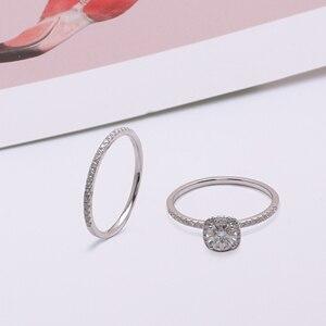 Image 4 - Женское кольцо из белого золота 750 пробы, 18 К, 6,5 мм