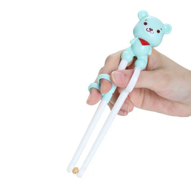 Cartoon Children's Environmental Protection Polypropylene Learning Training Complementary Food Chopsticks