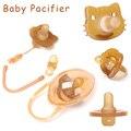 Детский милый мягкий силиконовый соски-пустышки набор с веревкой и мультяшным рисунком, для младенцев, для новорожденных, Животные комфорт ...