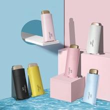 Плоский полудрагоценный зонтик, защита от солнца, защита от ультрафиолета, складной зонт для женщин, ультра легкий маленький мини карманный рекламный дождь или S
