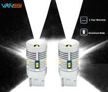Vanssi extremamente brilhante 7440 t20 w21w 12-leds 2020 chipsets 2000lm branco lâmpada led canbus erro livre para bulbos reversos de backup do carro