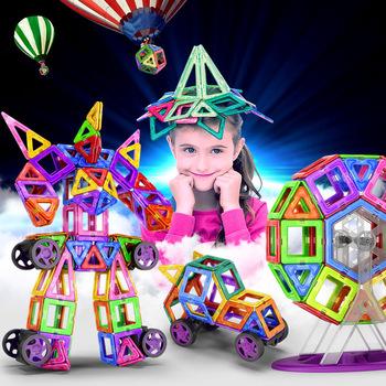 2020 układanki magnetyczne zabawki budowlane i budowlane 42-269pcs duże bloki magnetyczne Diy magnesy klocki budowlane prezenty tanie i dobre opinie RTBXF Z tworzywa sztucznego 7894 4-6Y 7-9Y 10-12Y 13-14Y 14Y