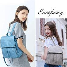 Women Backpack Waterproof Anti-theft Lightweight PU Leather Nylon Casual School Shoulder Bag Travel Backpack for Ladies by MLHJ