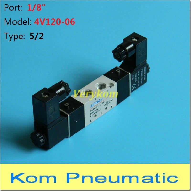 """TNP De Aire 1//8 /""""Dc 12v 3 Modo 2 posición Neumática Eléctrico válvula de solenoide de aluminio"""