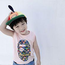 Новинка года; сезон лето; популярный бренд в японском стиле; детская одежда для мужчин и женщин; детский жилет без рукавов с изображением Железного человека