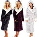 Мягкое Фланелевое платье из кораллового флиса для влюбленных, мужской и женский теплый сверхдлинный банный халат, мужское кимоно, халат, ха...