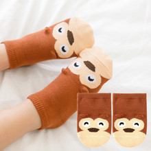 1 Pair Cute Baby Socks Infant Socks Newborn Cotton Boys Girls Cute Cartoon Toddler Anti-slip Socks цена