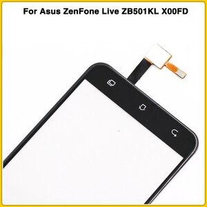 "Image 4 - חדש מסך מגע עבור Asus ZenFone לחיות ZB501KL X00FD A007 5.0 ""מגע מסך פנל Digitizer חיישן חיצוני זכוכית עדשה"