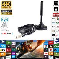 Super 12dBi Aerial TV Antenna For DVB T TV HDTV Digital Freeview HDTV Antenna Booster sale 2019 Hotuff01