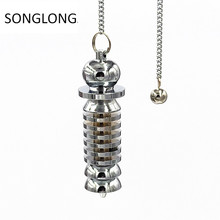 witch pendant pendulum dowsing Scrying Point Ball Egyptian Coil copper pendulo radiestesia pendants for jewelry making
