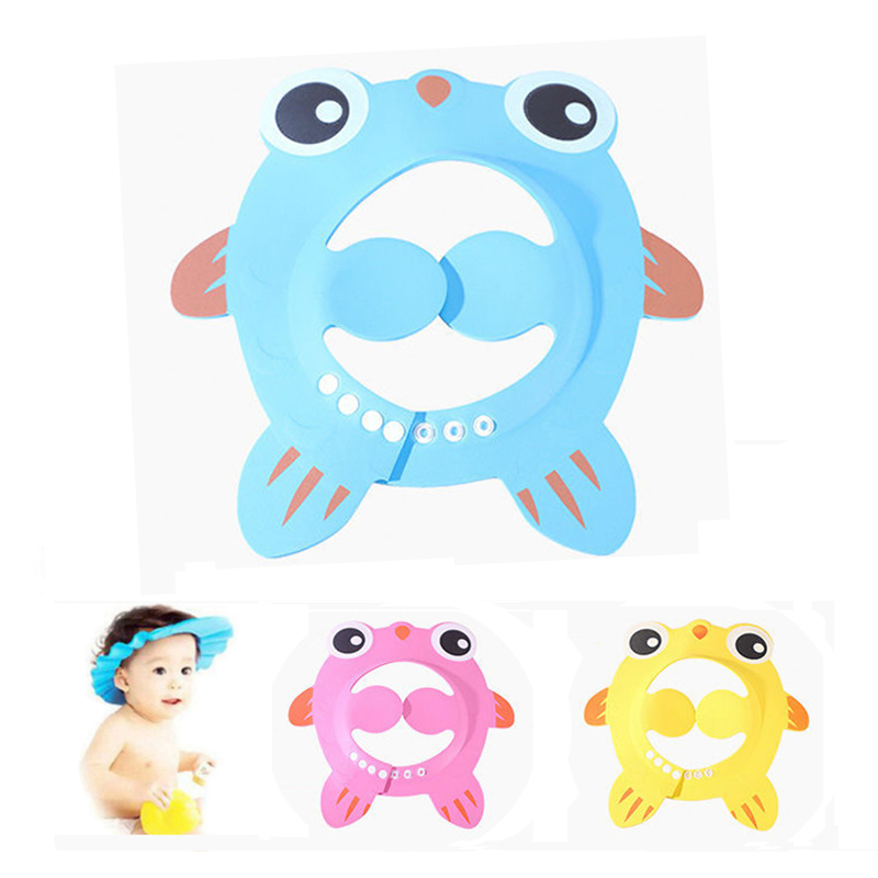 Kids Bath Visor Hat Children Waterproof Cap Safe Baby Shower Cap Adjustable Protect Eyes For 3M To 6Y Child Wash Hair Shield