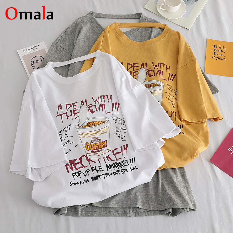 Summer Oversized Letter Print Tshirt Female Harajuku Back Hollow Streetwear Women T Shirt Korean Casual Loose Tops Long T-shirts