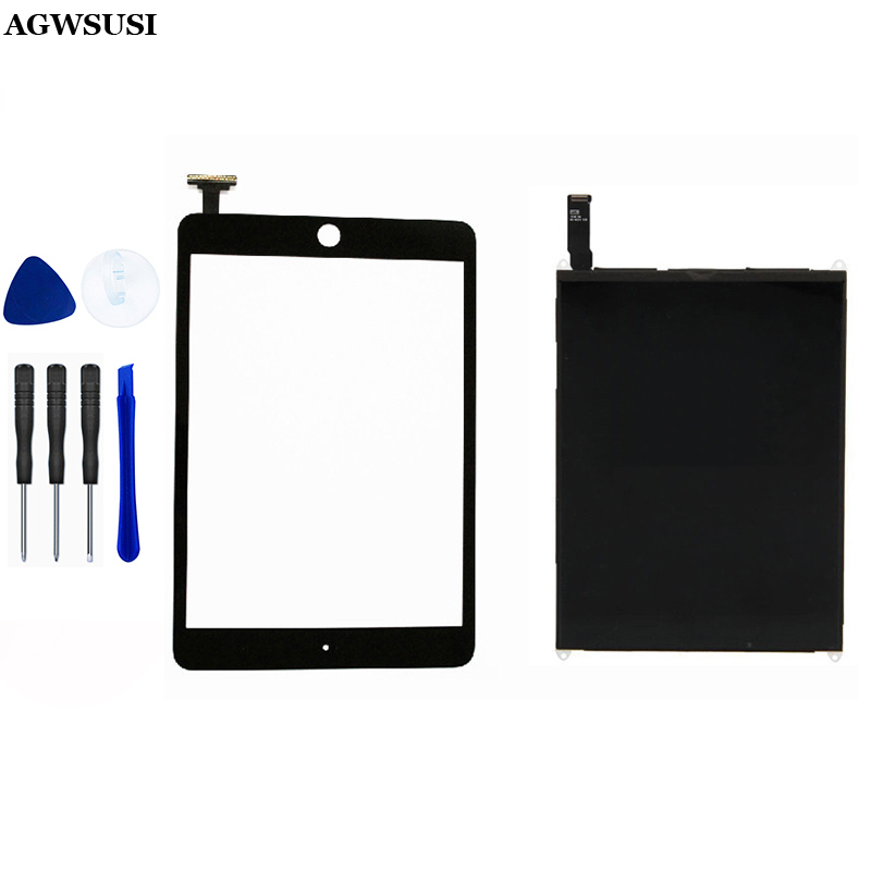 LCD Display Panel Screen Monitoer Module + Black Touch Screen Digitizer Glass Sensor For IPad Mini 1 1st A1432 A1454 A1455