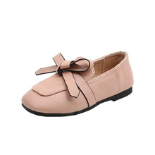 2020 New Girls Shoes Korean Fashion Bow Princess Leather Cas