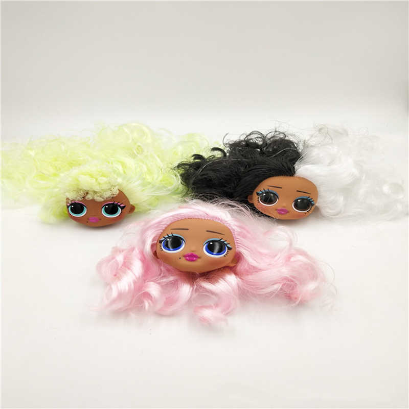 Genuíno lol surpresa bonecas originais lols omg menina boneca brinquedos metas de cabelo bonecas acessórios aleatórios 1 pcs entrega cabeça 5 cm