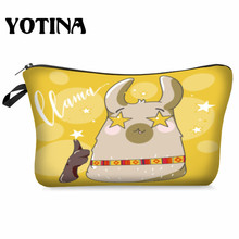 Yotina Makeup Bag Women Cosmetic With Multicolor Pattern  3D Printing neceser Toiletry Travel makeup Organizer