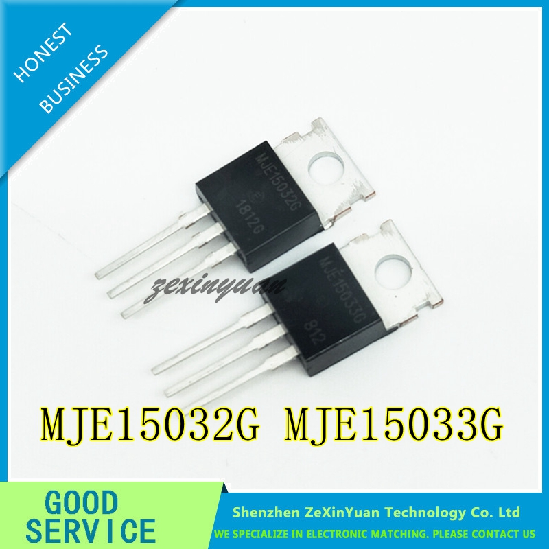 10pcs/lot 5psc MJE15033G + 5pcs MJE15032G TO-220 MJE15033 MJE15032 Power Transistor