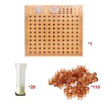 Ferramentas para apicultura de abelha 110, conjunto de copos, equipamento de ajuda para coletor de abelha queen