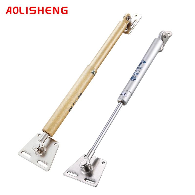 Aolisheng пружинным шарниром мебельная фурнитура подъемная поддержка двери шкафа воздушной подушке поддержка 100N/10 кг гидравлическая опора оборудования|Петли для шкафа|   | АлиЭкспресс