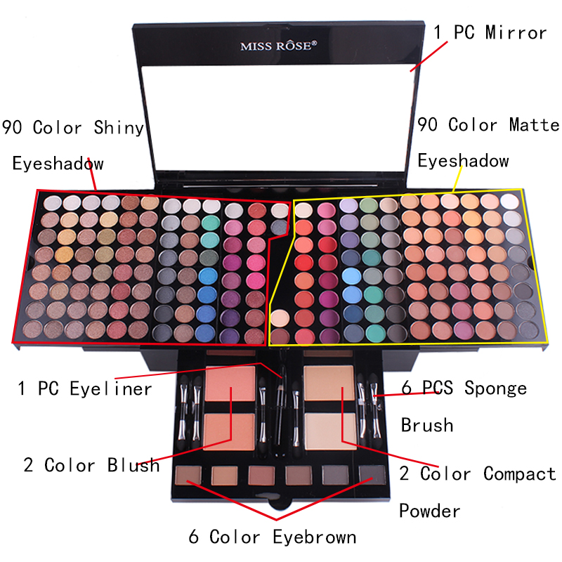 US $2.18 40% OFF|Long Lasting Waterproof Shimmer Makeup Kit Glitter Matte Soft Eyeshadow Palette Set Women Makeup 180 Colors Multicolor-in Makeup Sets from Beauty & Health on AliExpress - 11.11_Double 11_Singles' Day