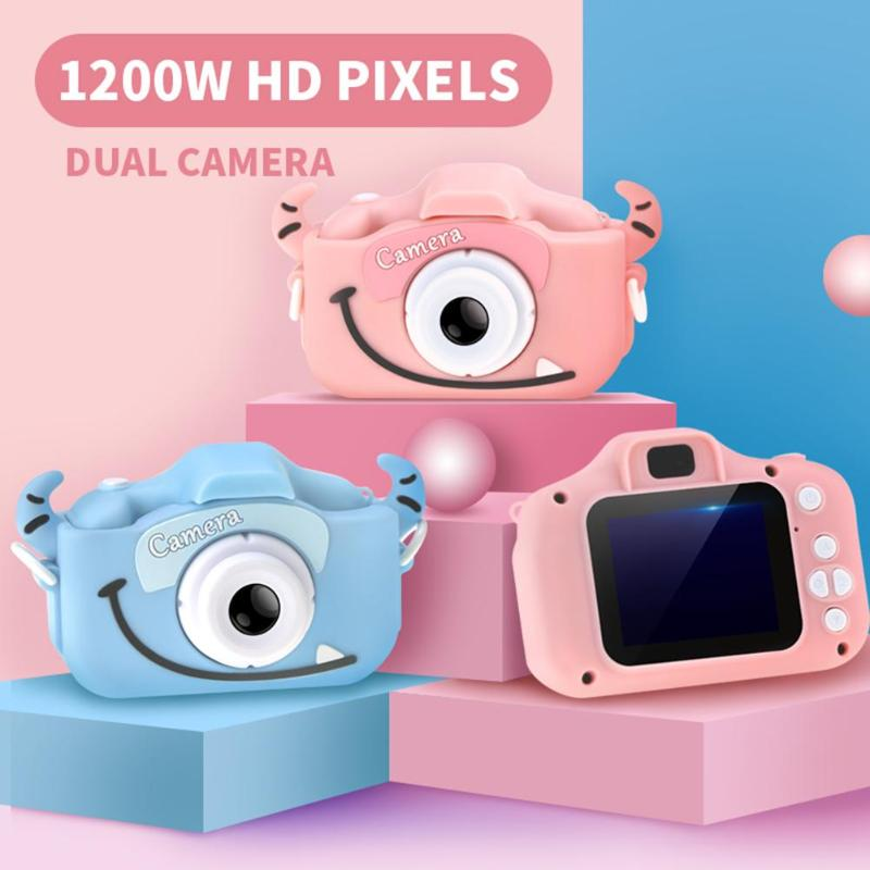 2.0 inch IPS HD Kids Mini Digital Camera 1080P 12MP Dual Camera Video Photo Children Camera Pocket Cute Cam Toys Birthday Gift